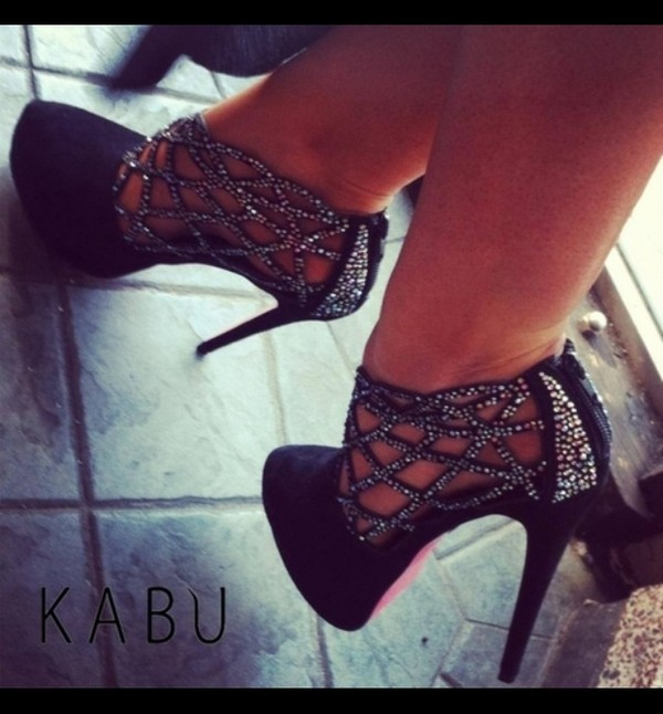 shoes high heels black high heels sparkly heels rhinestones heels sparkle celebrity style platform high heels kabu shoes sparkly black shoes black lace shoes