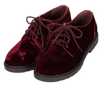 shoes red velvet topshop oxfords