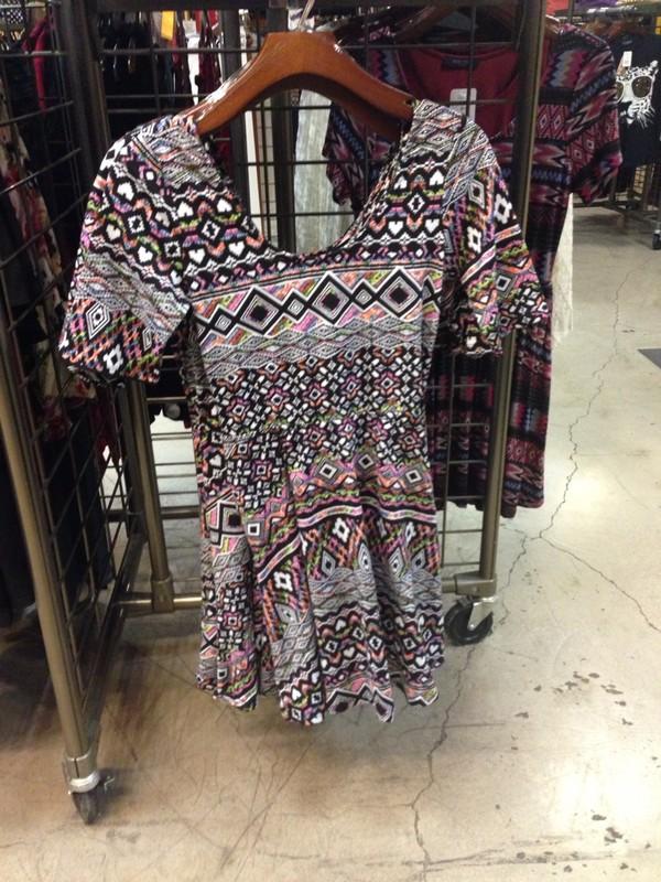 dress aztec summer short dress cute colorful