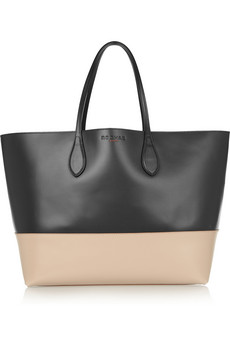 Two-tone leather shopper | Rochas | 30% off | THE OUTNET