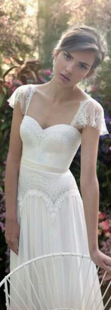 dress wedding dress wedding cap sleeves cap sleeve dress lace dress