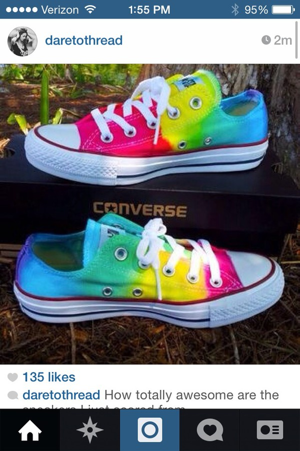shoes converse low rise multi colored