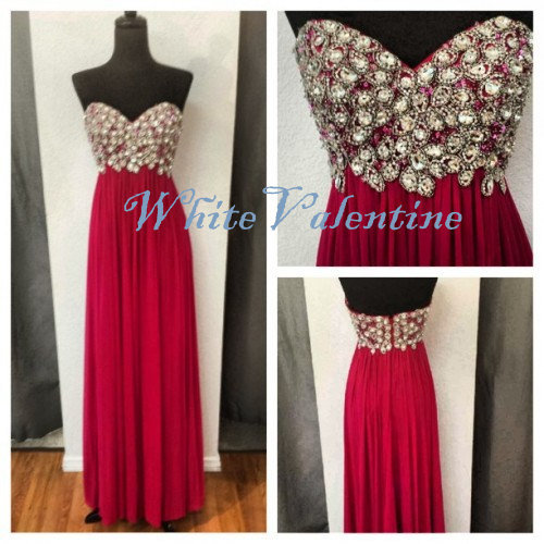 Long Red Bead Prom Dress Formal Dress Mint Peach Coral Homecoming Dress Party Dress Graduation Dress Cheap Custom Evening Dress on Wanelo
