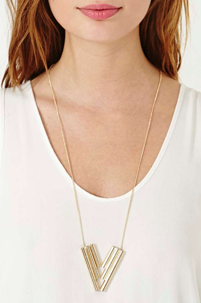 Angled Cylinder Pendant  in  Accessories at Nasty Gal
