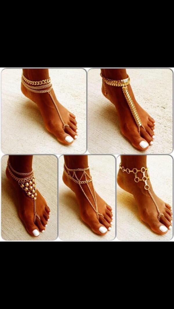 jewels ankle bracket chasing pretty girlyy