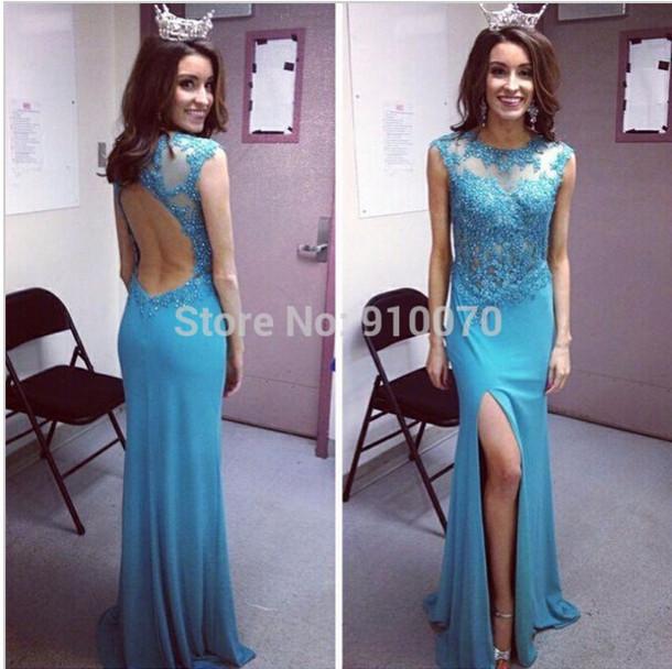 dress prom dress homecoming dress pearls dress backless prom dress blue prom dress