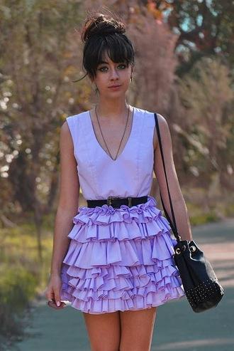 dress autilia purple dress