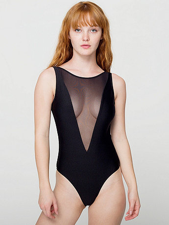 The Gloria-V One-Piece Bathing Suit   American Apparel