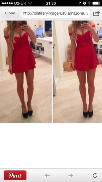 dress red dress mini dress red off shoulder red dress fashion trendy prom dress