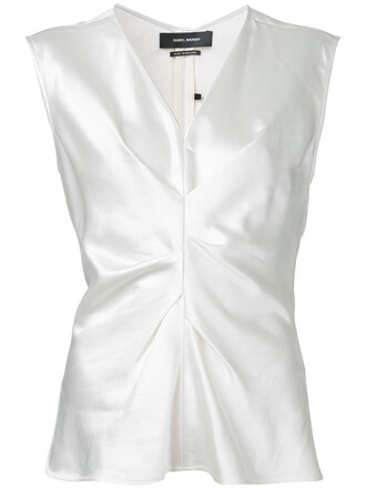 loose women fit white cotton top