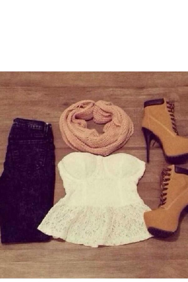 blouse shoes
