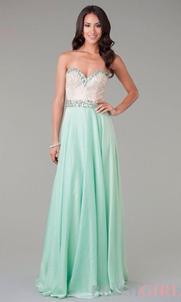 dress maxi dress prom dress green dress strapless dress