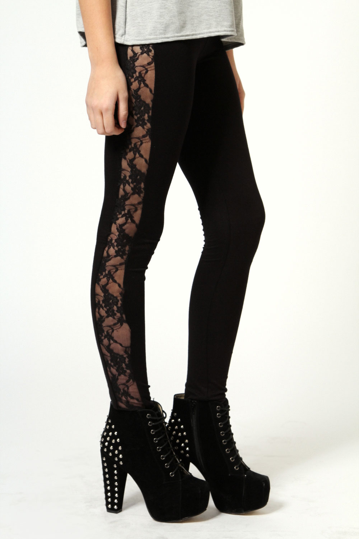 Famous Esme Lace Side Leggings XE46
