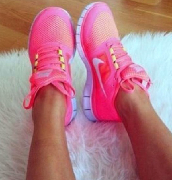 shoes pink trainers sporty nike girly pinktrainers gym nike running shoes