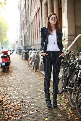style scrapbook blogger bag sunglasses jewels blazer tailoring gemstone