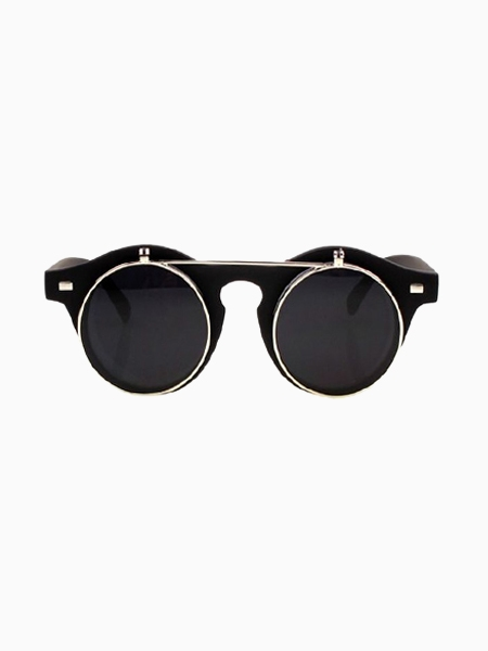 Two-Double Vintage Sunglasses In Matte Black | Choies