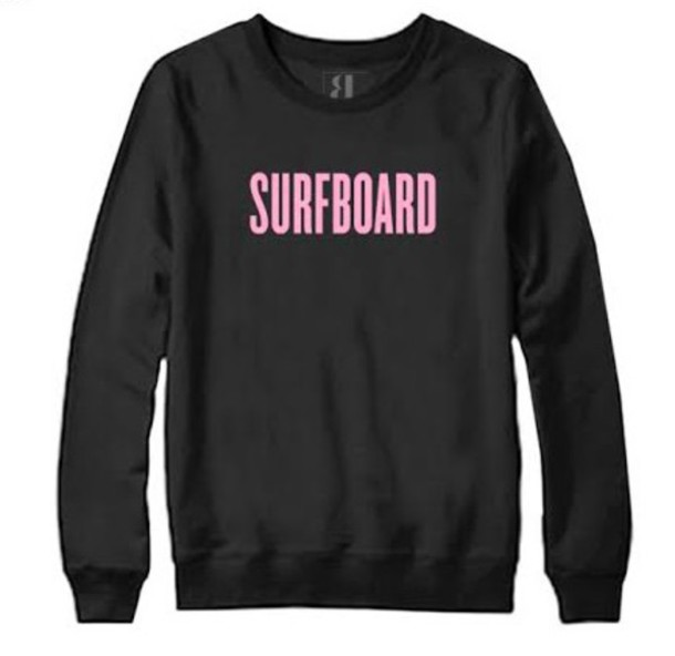 sweater beyoncé surfboard black pink