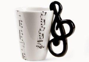Treble Clef Handmade Coffee Mug (10cm x 8cm): Amazon.co.uk: Kitchen & Home