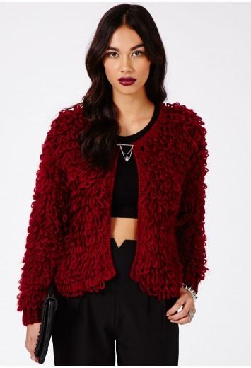 Emmeline Loop Knit Cardigan - Knitwear - Missguided