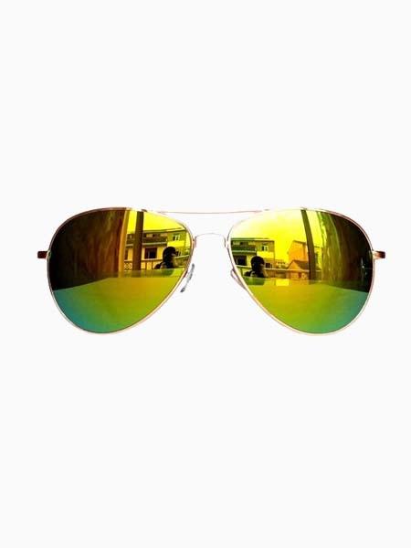 Hot Sale Reflector Sunglasses In Golden | Choies