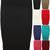 New Womens Plain Bodycon Pencil High Waisted Ladies Stretch MIDI Skirt 8 14 | eBay