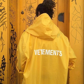 jacket vetements yellow