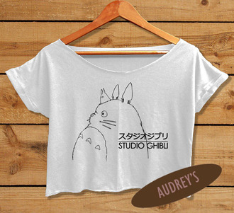 top crochet crop top t-shirt shirt rock tank top crop tee anime studio ghibli movie tv series fashion women's clothings cropped