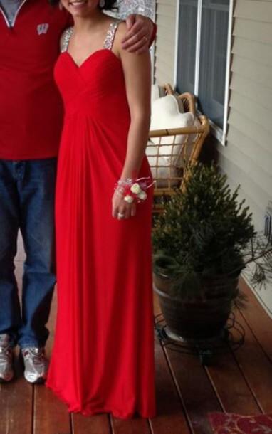 dress red dress prom dress simple dress