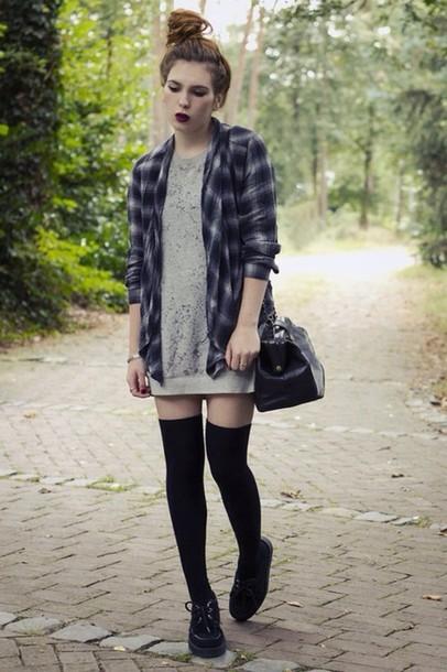 shirt grunge flannel shirt dress