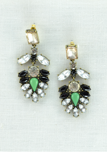 Leaf Design Statement Earrings - Happiness Boutique