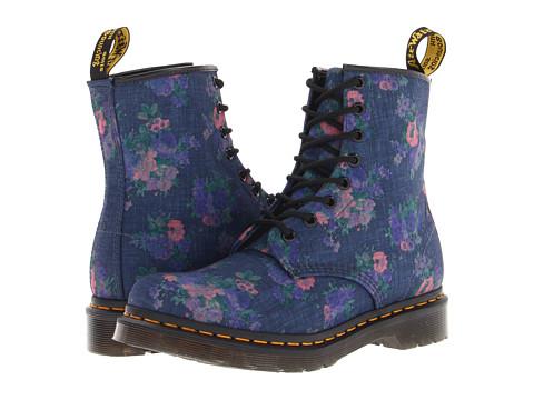 Dr. Martens Castel 8-Eye Boot W Denim Vintage Bouquet - Zappos.com Free Shipping BOTH Ways