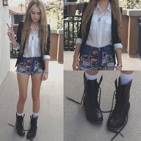 shoes pretty boots black blouse blouse acacia brinley acacia brinley acacia brinley shorts jacket