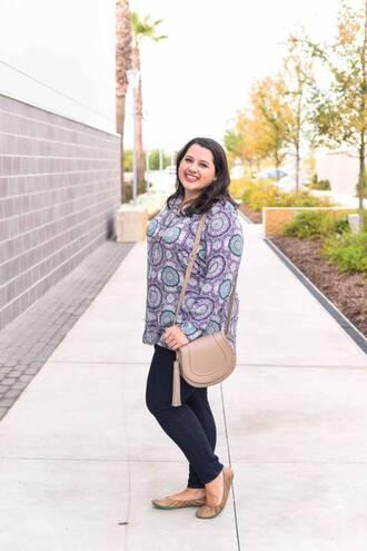 somethinggoldsomethingblue blogger jeans bag jewels ballet flats plus size shoulder bag skinny jeans
