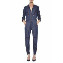 The SHORTIE BOILER SUIT  - EASY FIT, SHORT ALL-IN-ONE - White Fiction Twill - MiH Jeans