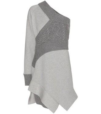 dress sweatshirt dress grey