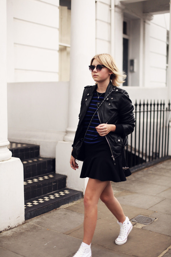 into the fold shoes skirt top jacket sunglasses bag