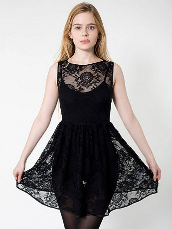 China Lace Sleeveless Dress | American Apparel