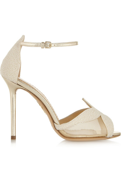 Charlotte Olympia | Sandrine bead-embellished leather sandals | NET-A-PORTER.COM