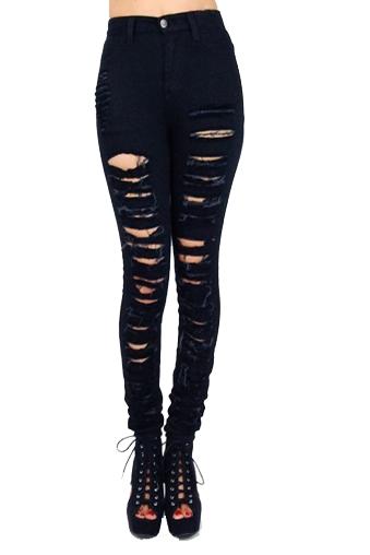 Black Metal Skinny Jeans – Wunderlust
