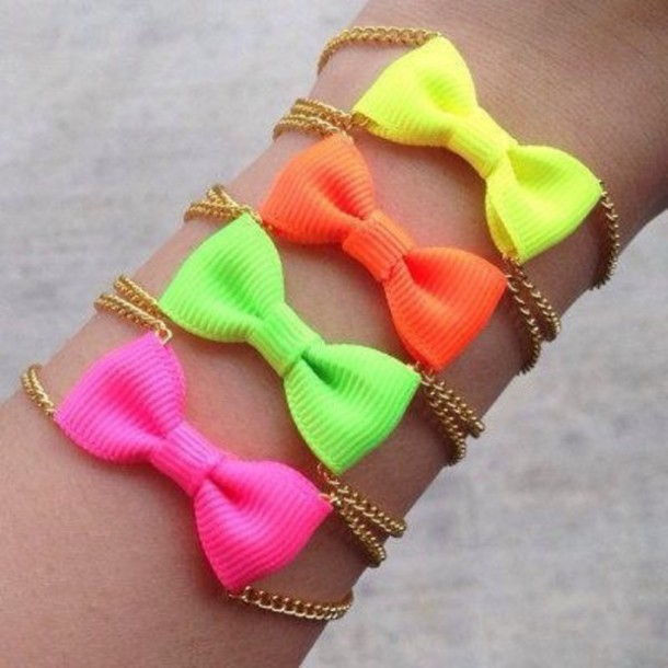 jewels neon bows