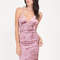Crushing hard plunging velvet dress mauve - gojane.com