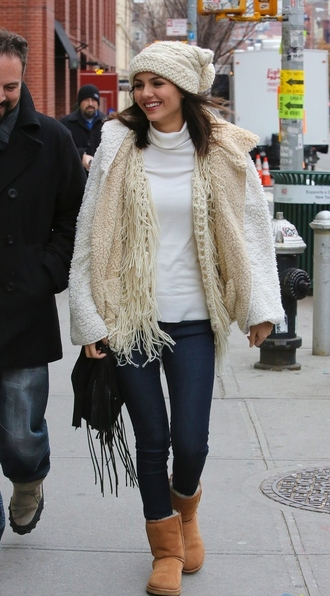 jacket victoria justice winter sweater winter jacket winter outfits sweater vest cardigan