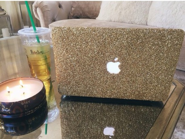 phone cover mac gold glitter case
