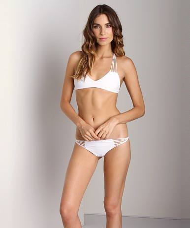 Mikoh Banyans String Racerback Bikini Top Foam 1BAN-SOLFOA  at Largo Drive Underwear & Swimwear