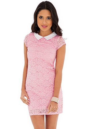 Lace Cap Sleeve Shift Dress