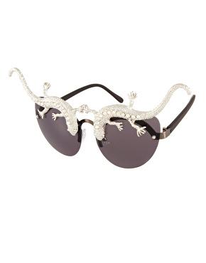 ASOS | ASOS Premium Lizard Cat Eye Sunglasses at ASOS