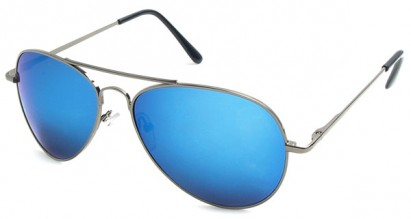 Multi-Colored Mirrored Aviator Sunglasses