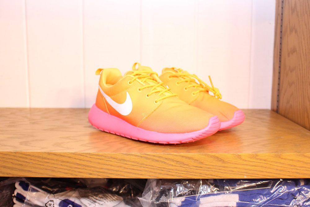 WMNS Nike Rosherun Rosherun Print Atomic Mango Pink Glow 599432 801 | eBay
