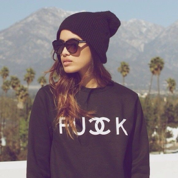 FCUK Sweater Jumper Grunge Tumblr Paris Fashion Hipster Funny Hop Hop Swag New | eBay