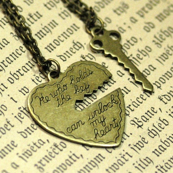 He Who Holds The Key.. 2 necklace set by ragtrader on Etsy